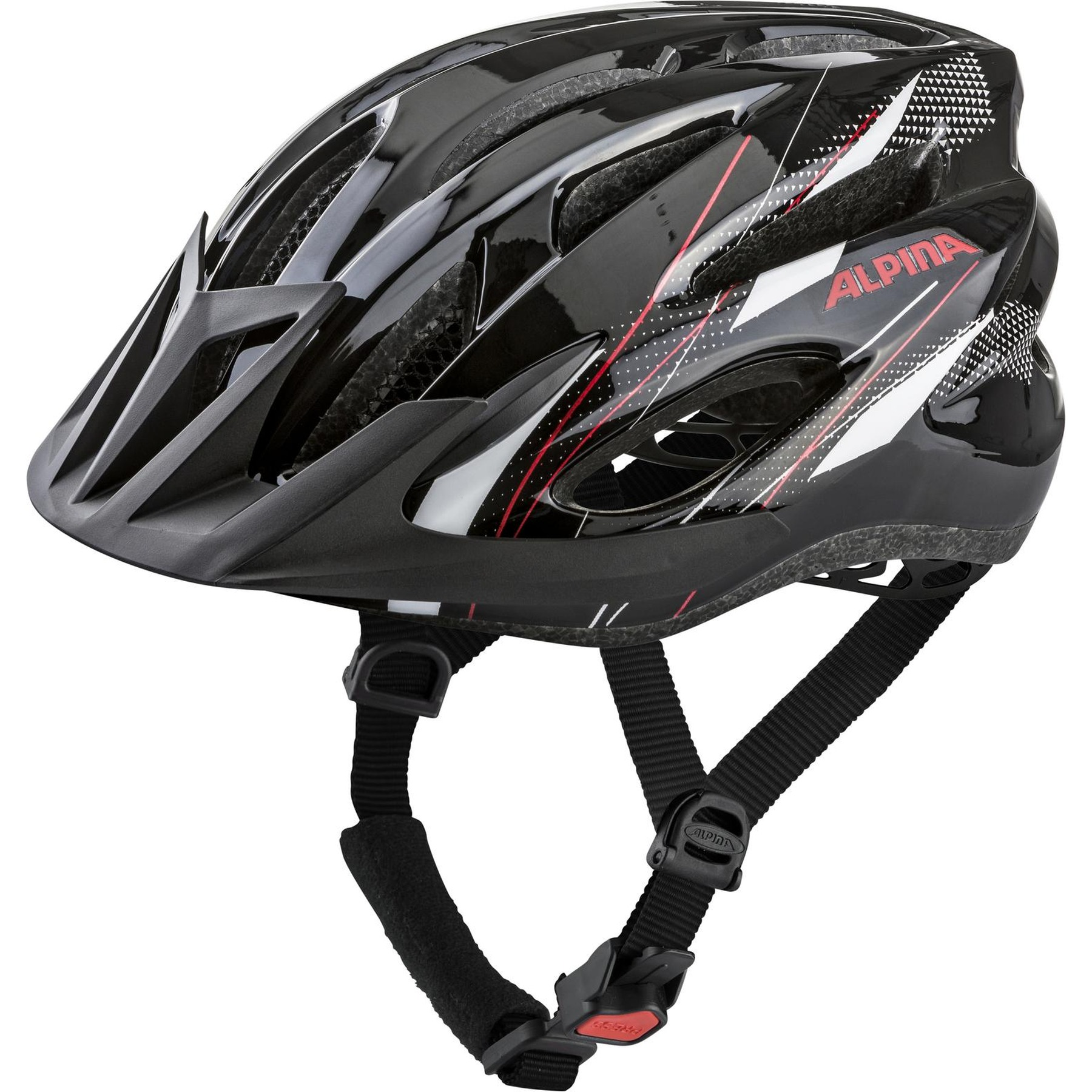Alpina MTB 17 Helmet - black-white-red