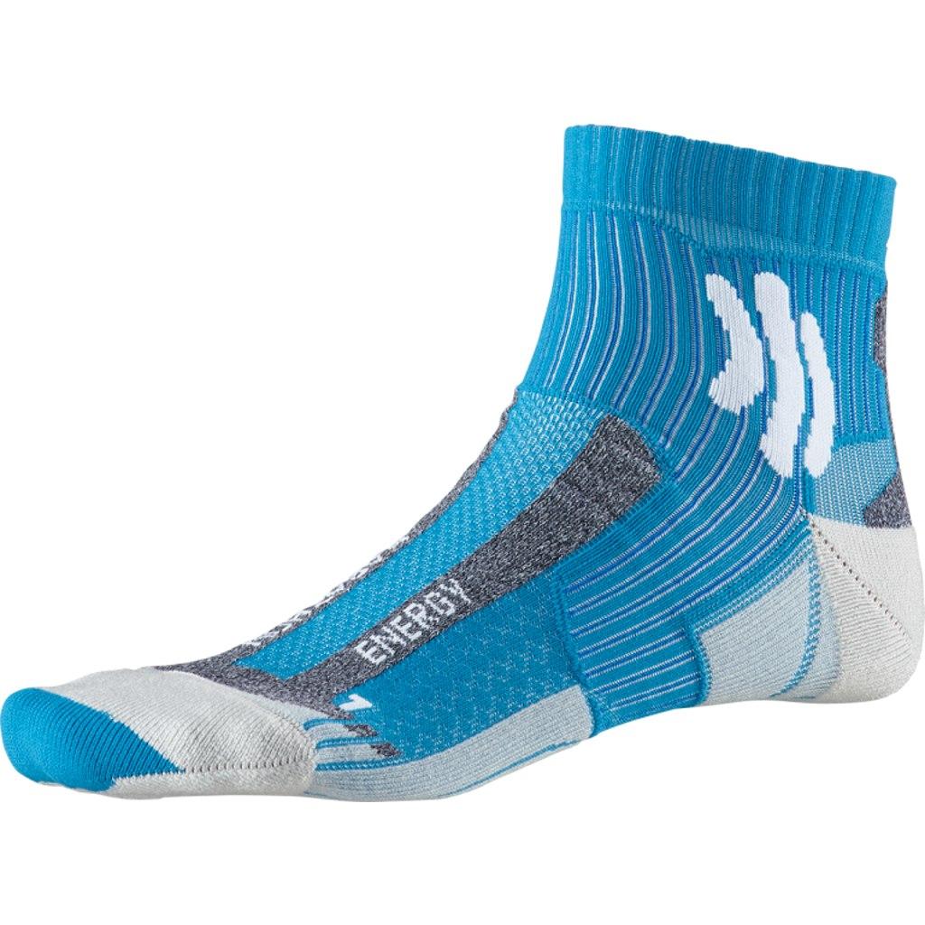 X-Socks Marathon Energy Laufsocken - teal blue/arctic white