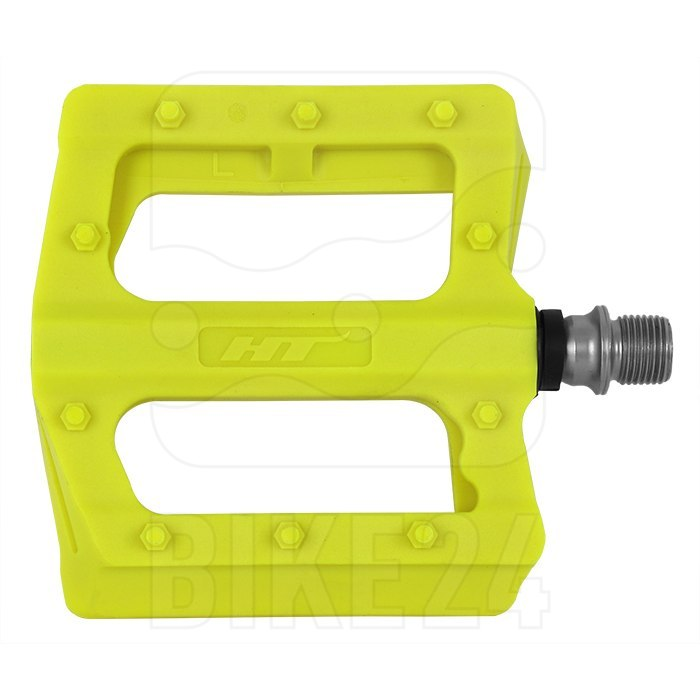 Produktbild von HT PA12 NANO P Flat Pedal Aluminium - neon gelb