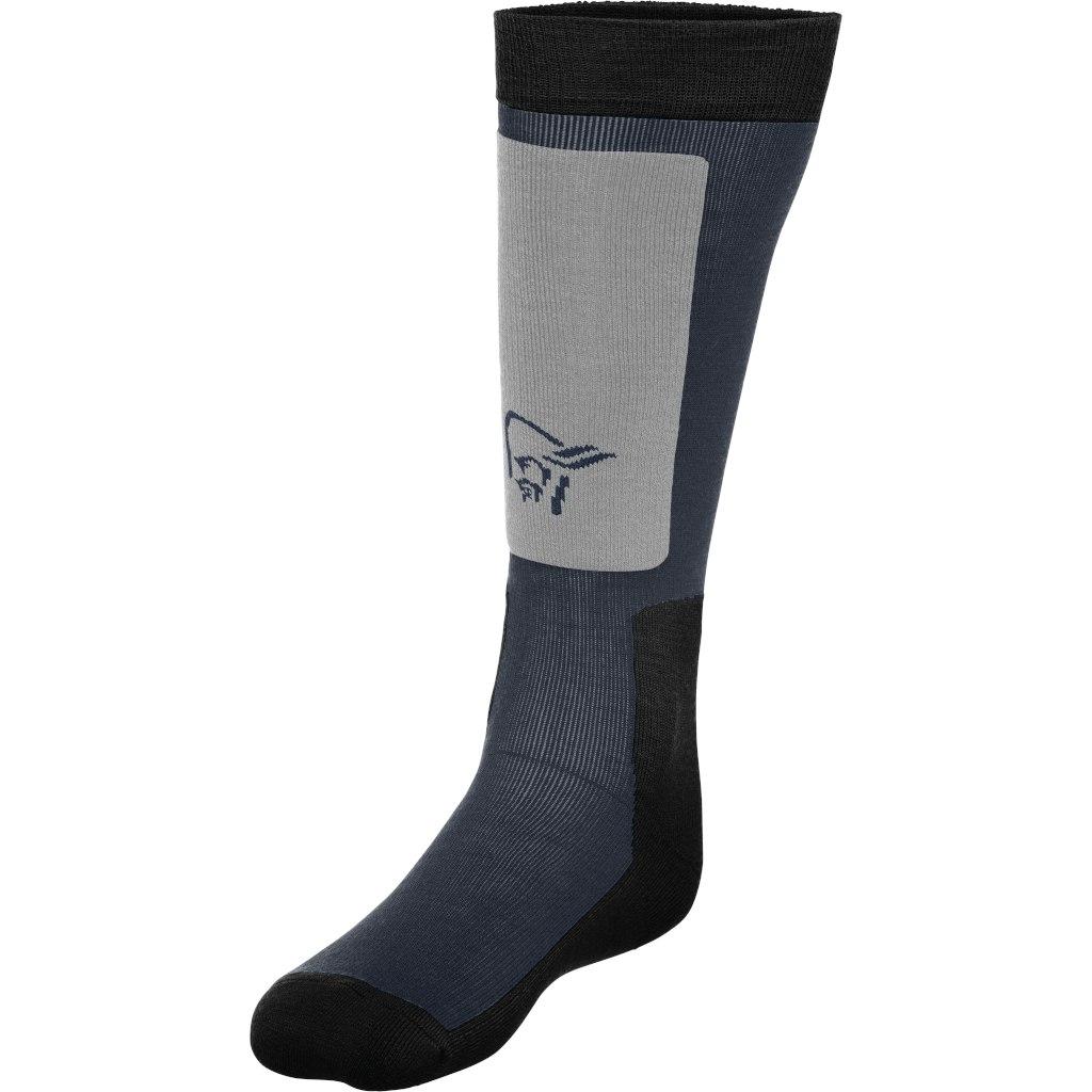 Norrona lofoten mid weight Merino Socks long - Cool Black