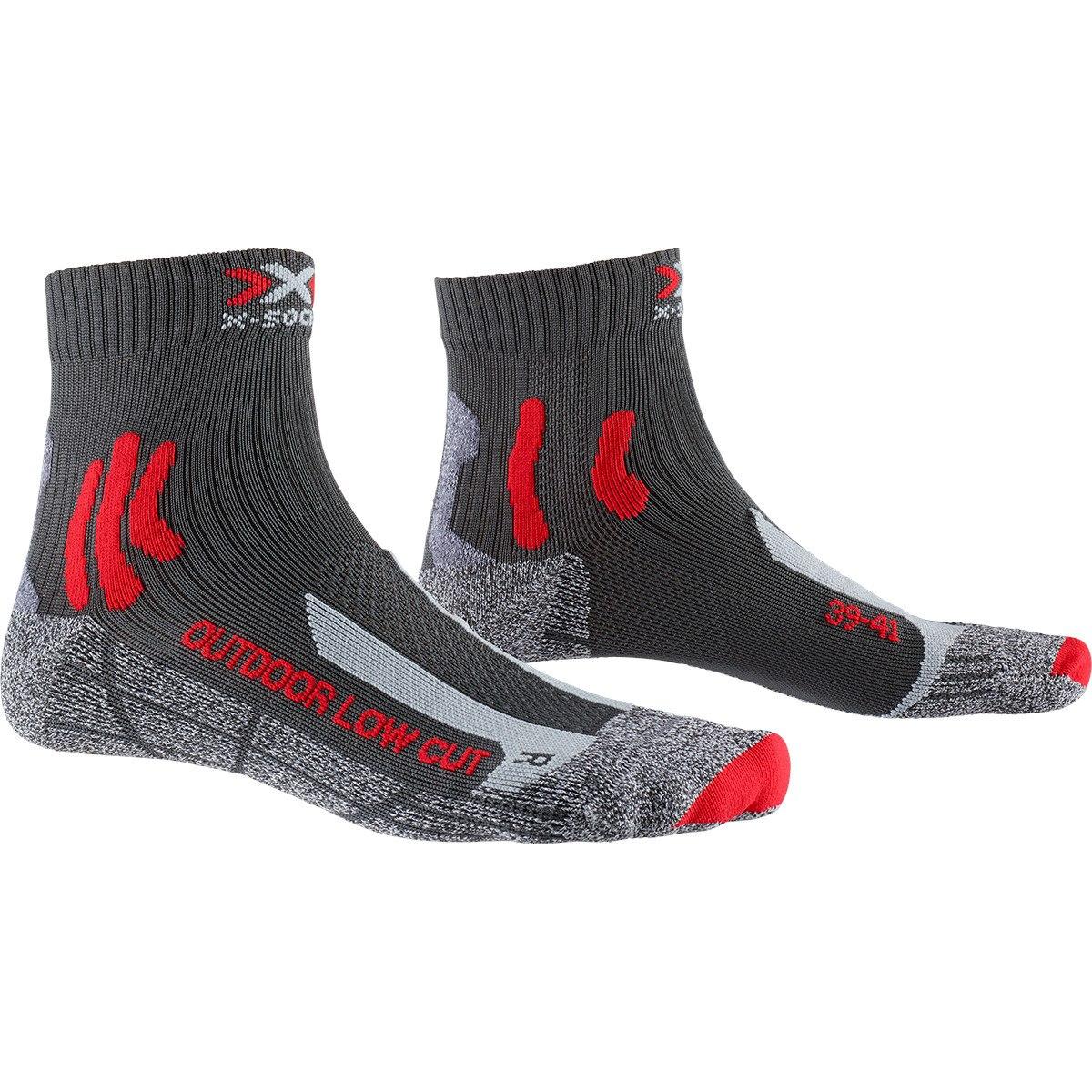 X-Socks Trek Outdoor Low Cut Socken - anthracite/red