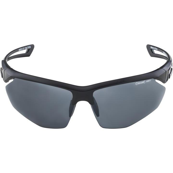 Alpina Nylos HR Glasses - black matt/black mirror