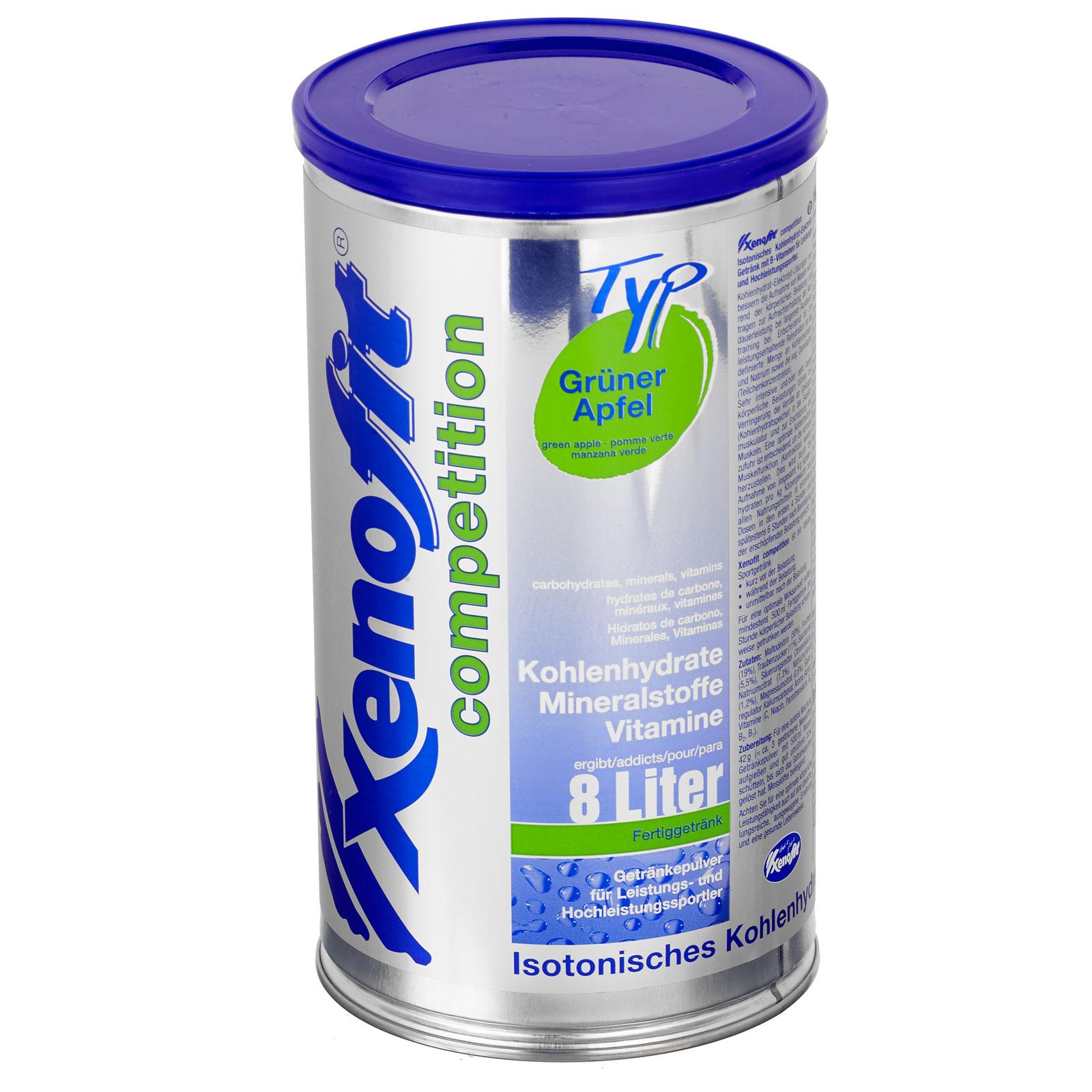 Xenofit Competition Grüner Apfel - Isotonisches Kohlenhydrat-Getränk - 672g