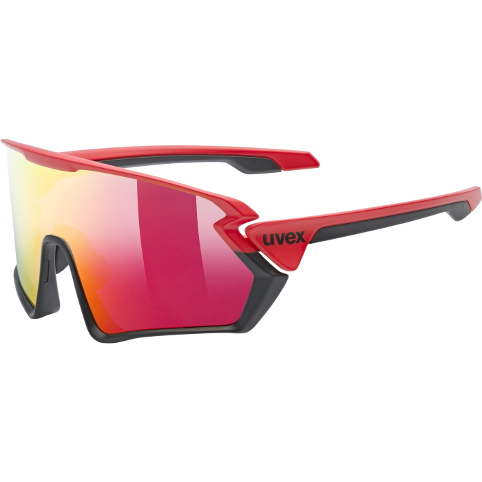 Uvex sportstyle 231 Glasses - red black mat/mirror red
