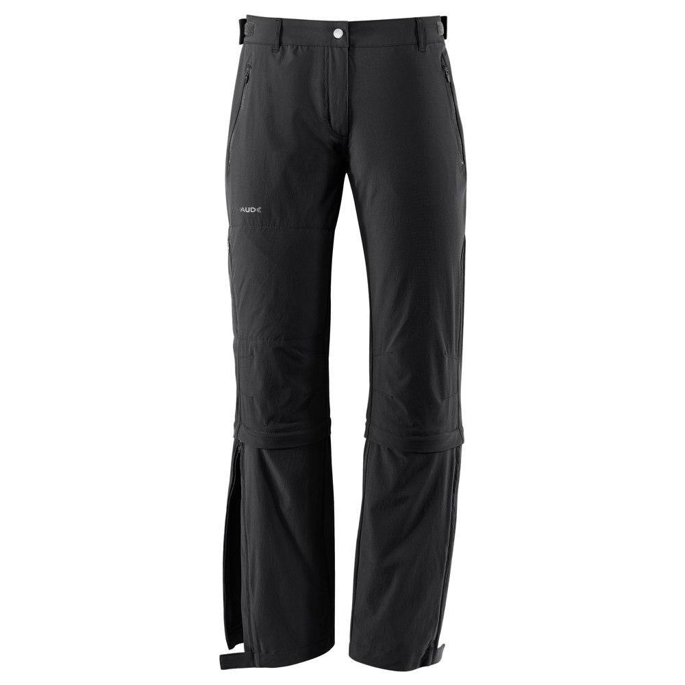 Bild von Vaude Farley Stretch Capri T-Zip II Damenhose - Regular - schwarz