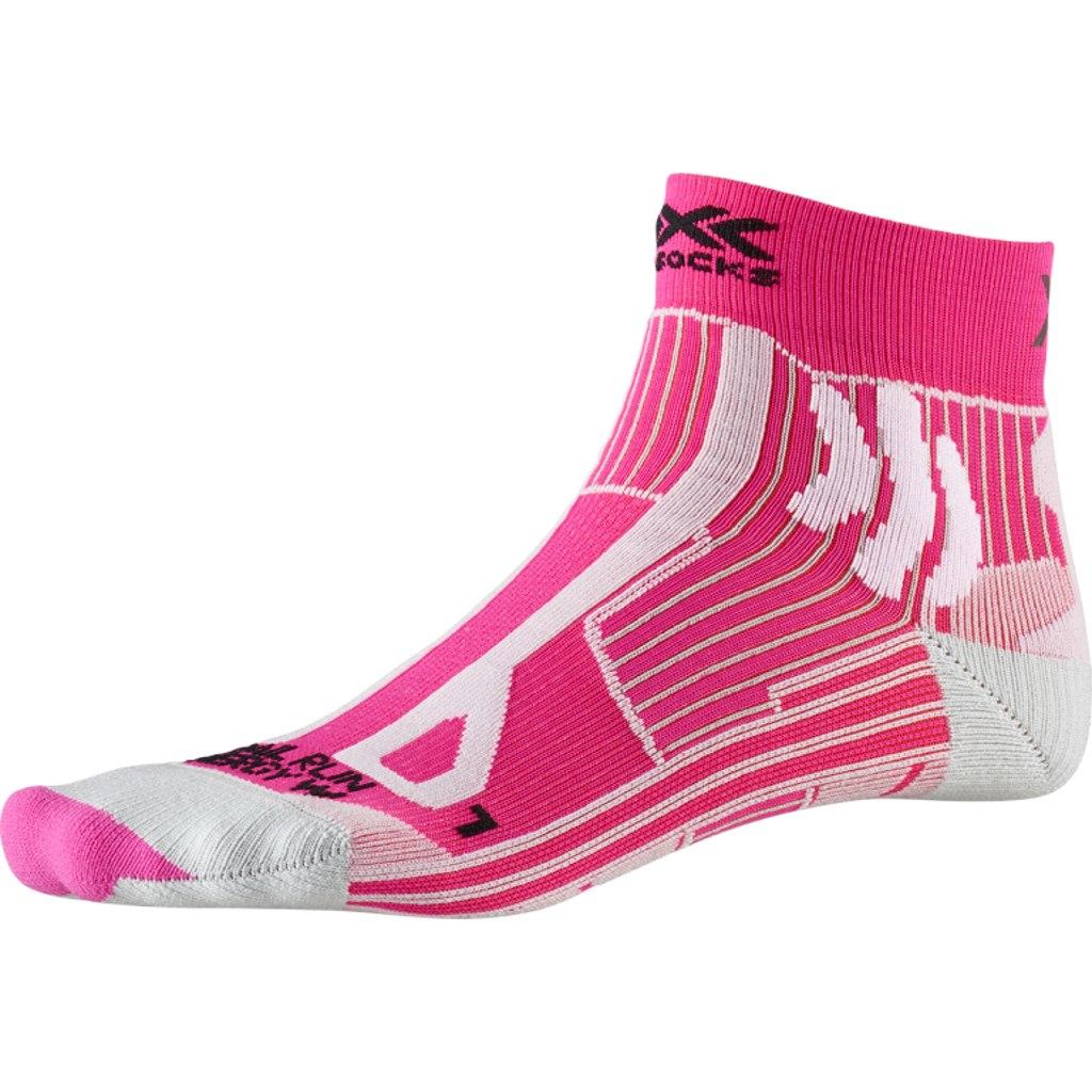 X-Socks Trail Run Energy Women's Socks - flamingo pink/pearl grey