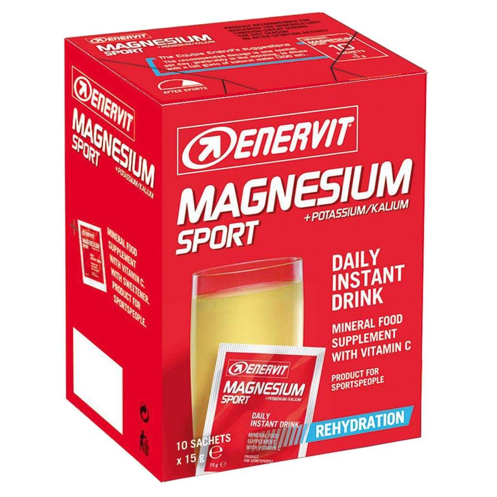 Enervit Magnesium and Potassium Sport - Food Supplement - 10x15g