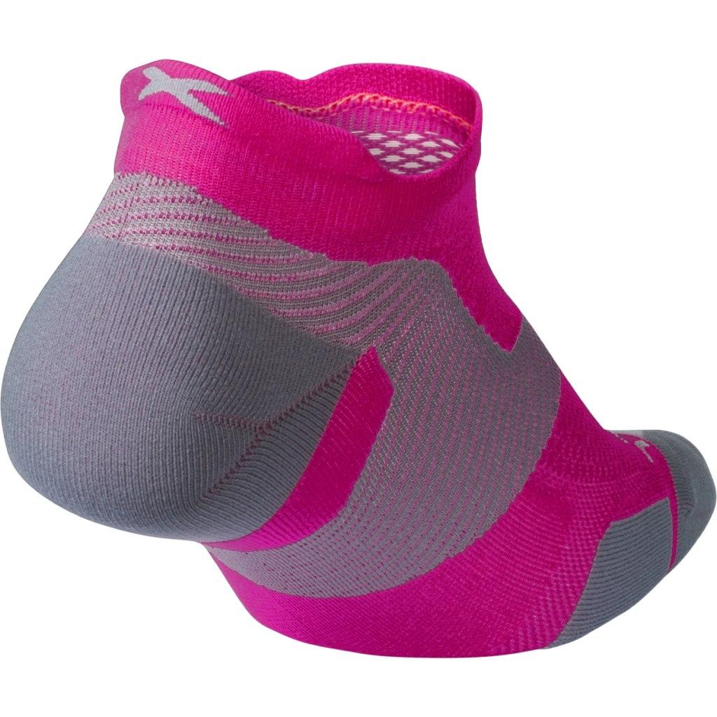 Imagen de 2XU Vectr Light Cushion No Show Socks - magenta/light grey
