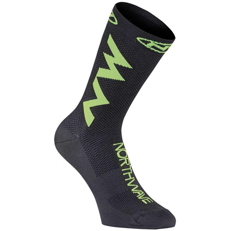 Northwave Extreme Air Socks - black/lime fluo 05