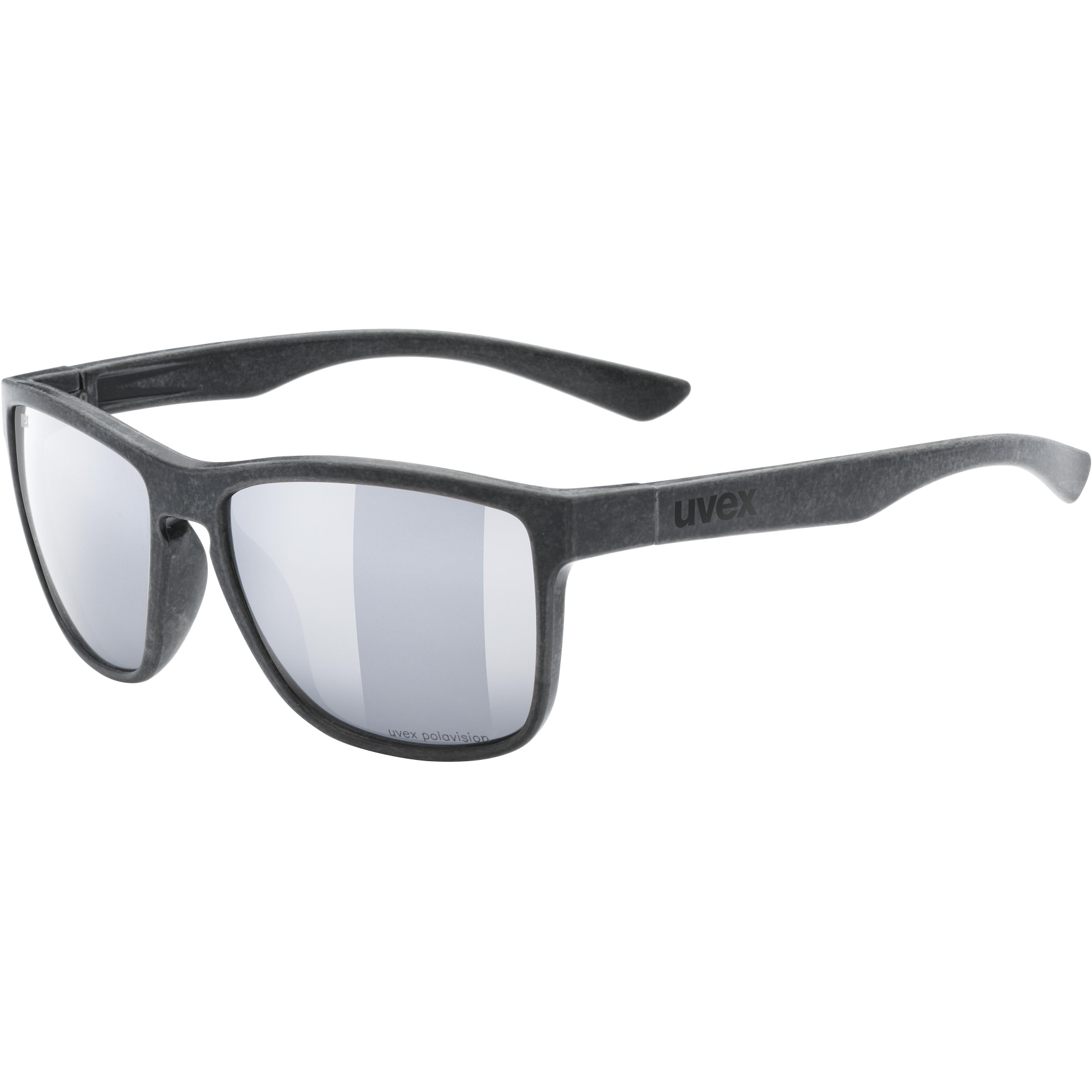 Uvex lgl ocean 2 P Brille - black mat/polavision mirror silver
