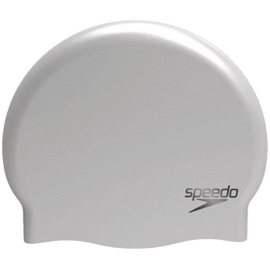 Produktbild von Speedo Plain Moulded Silicone Badekappe - chrome