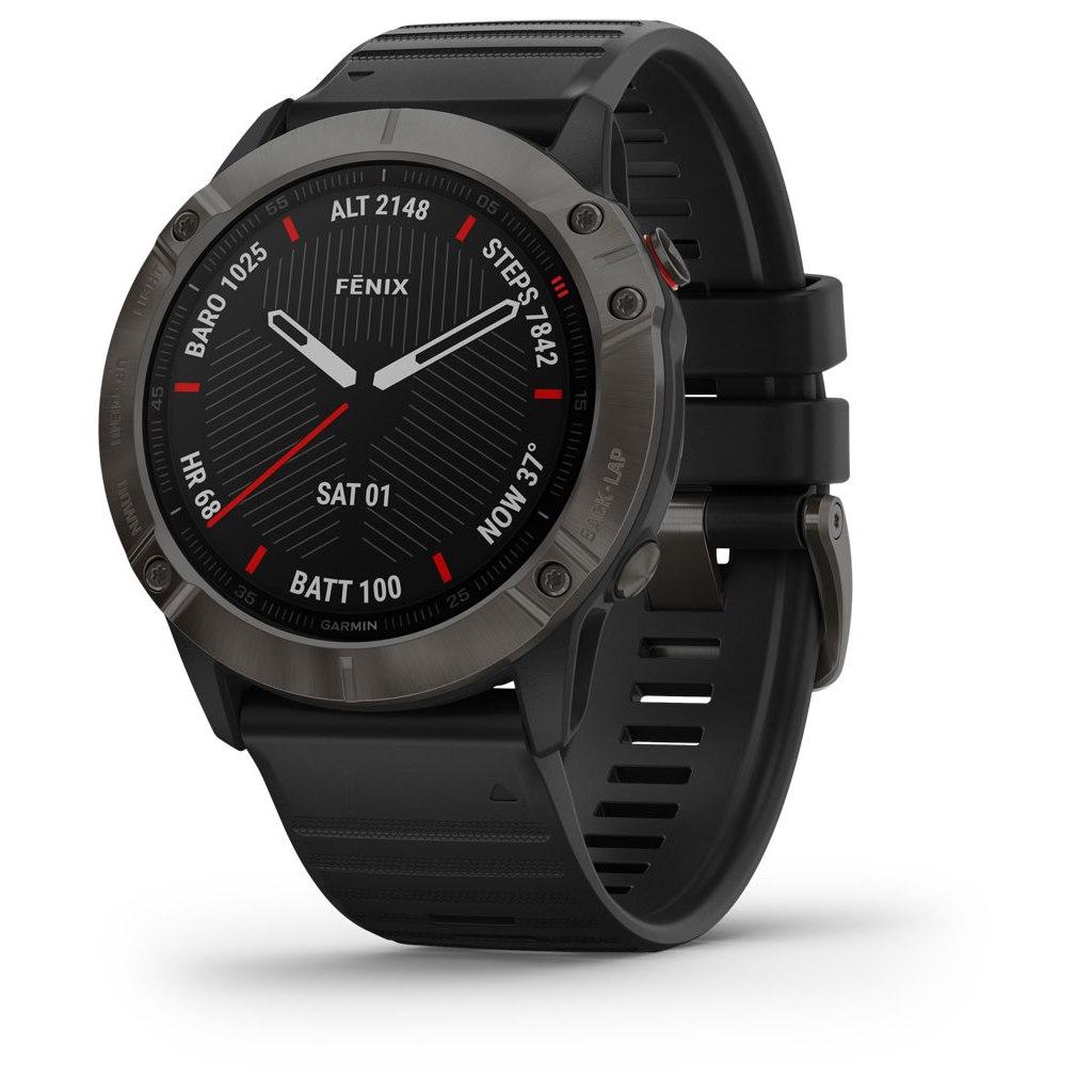 Garmin fenix 6X Sapphire GPS Smartwatch - schwarz/schiefergrau