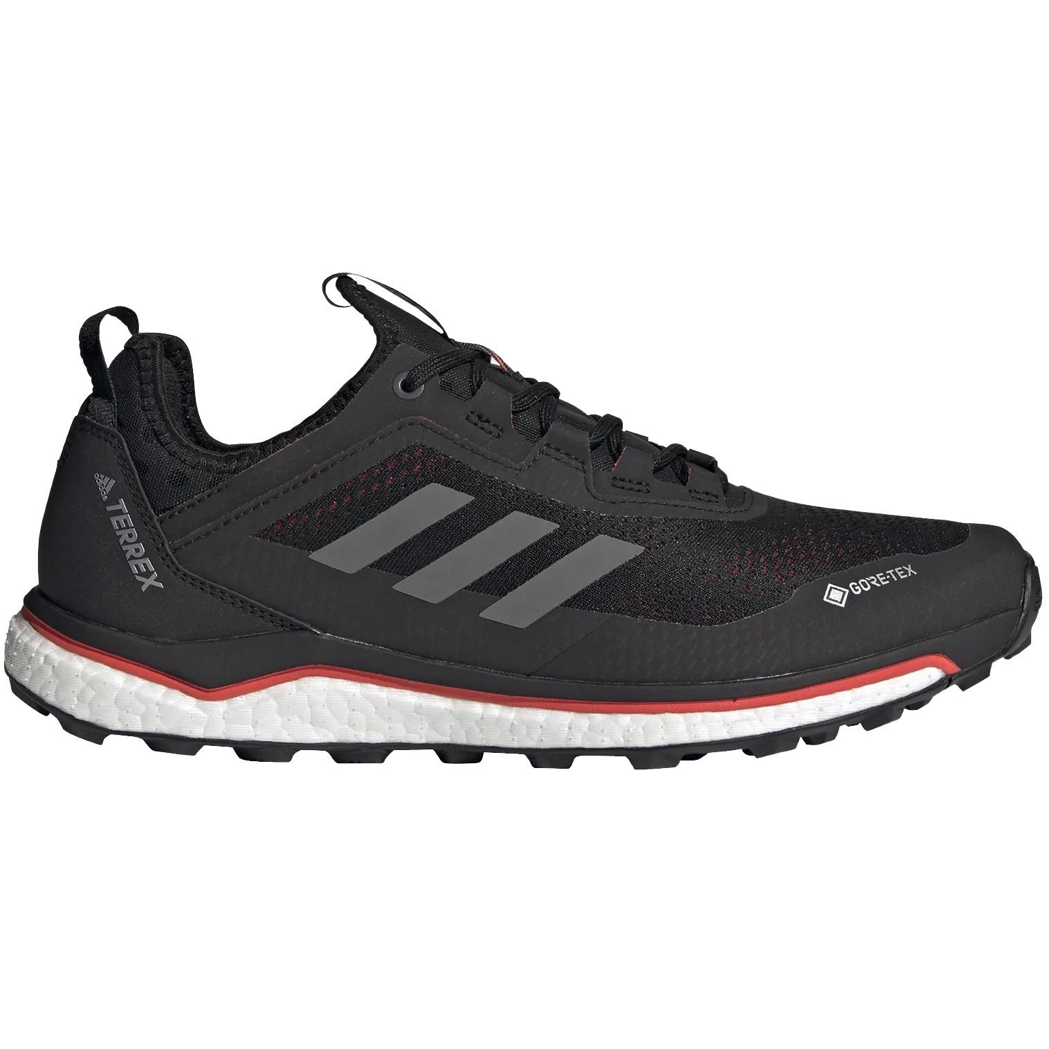 adidas Männer TERREX Agravic Flow GORE-TEX Trailrunning-Schuhe - core black/grey four/solar red FU7448