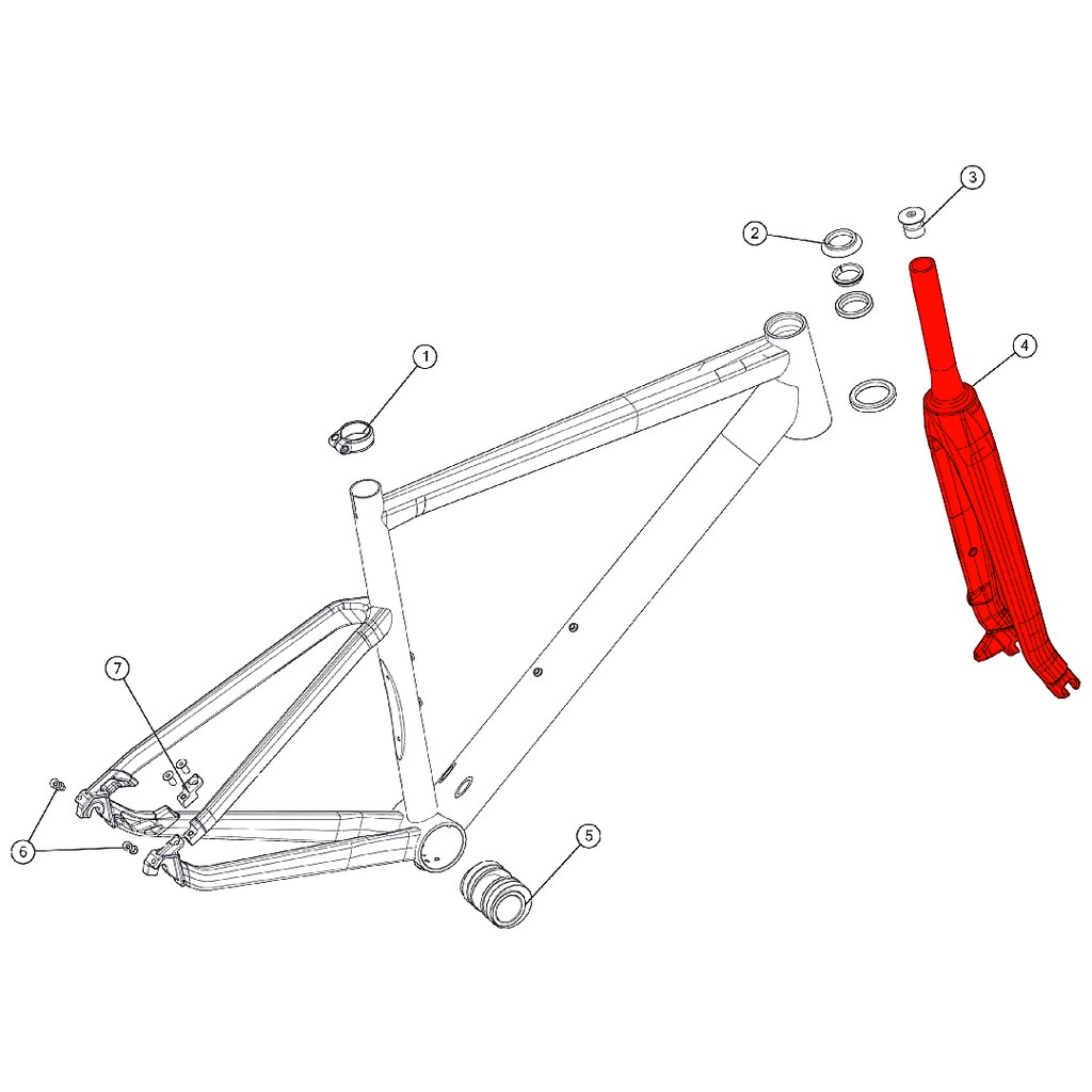 BMC Carbon Fork for Alpenchallenge 01 THREE (MY 2018) - 301182 - red