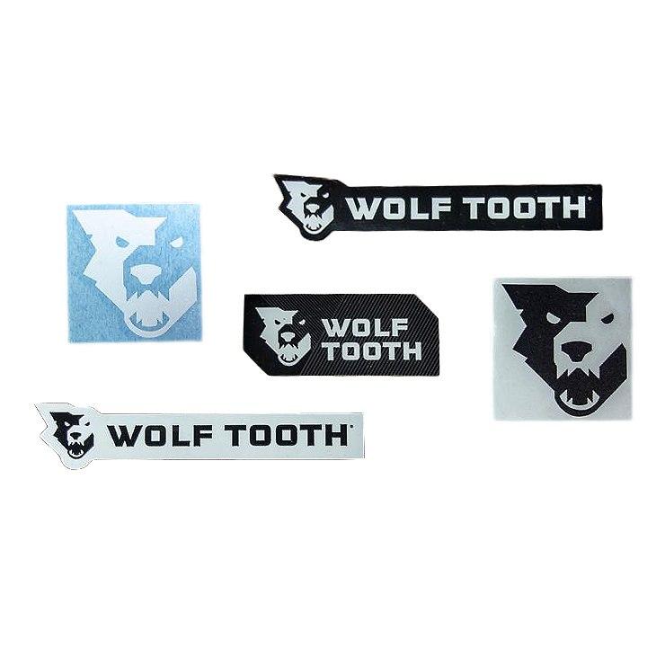 Wolf Tooth Decal Pack - 5 Aufkleber - schwarz / weiß