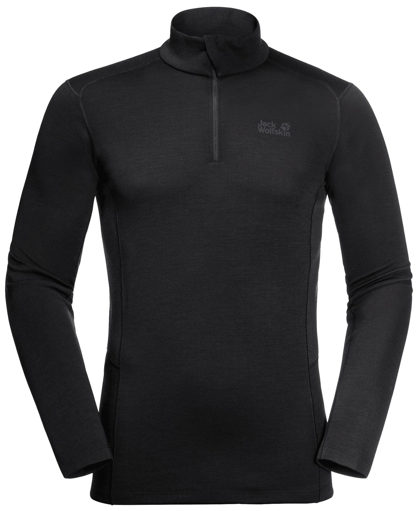 Jack Wolfskin Arctic XT Half Zip Pullover - schwarz