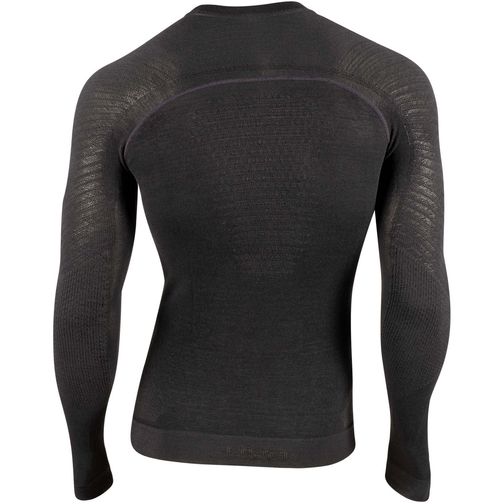 Image of UYN Fusyon Man Cashmere UW Long Sleeve Shirt - Black/Black