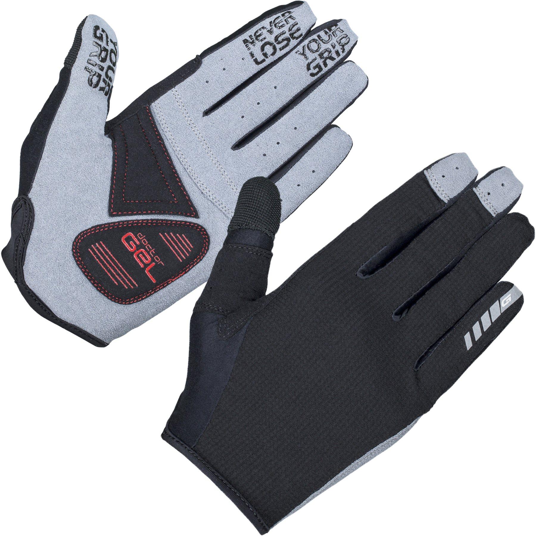 GripGrab Shark Padded Full Finger Glove - Black