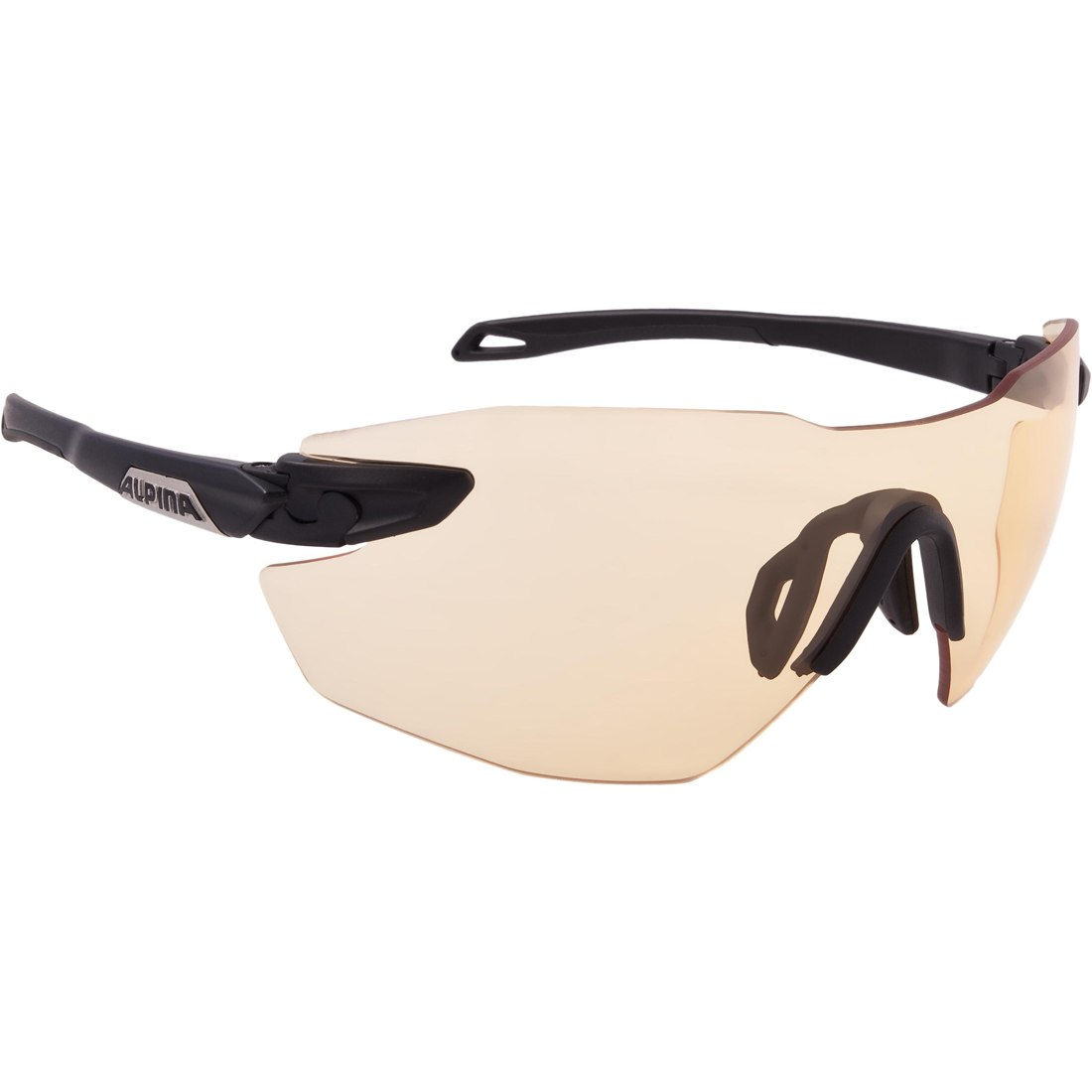 Image of Alpina Twist Five Shield RL VL+ black matt/Varioflex orange - Glasses