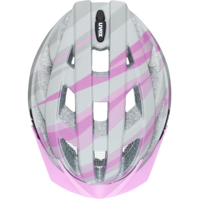 Image of Uvex air wing cc Helmet - grey - rosé mat