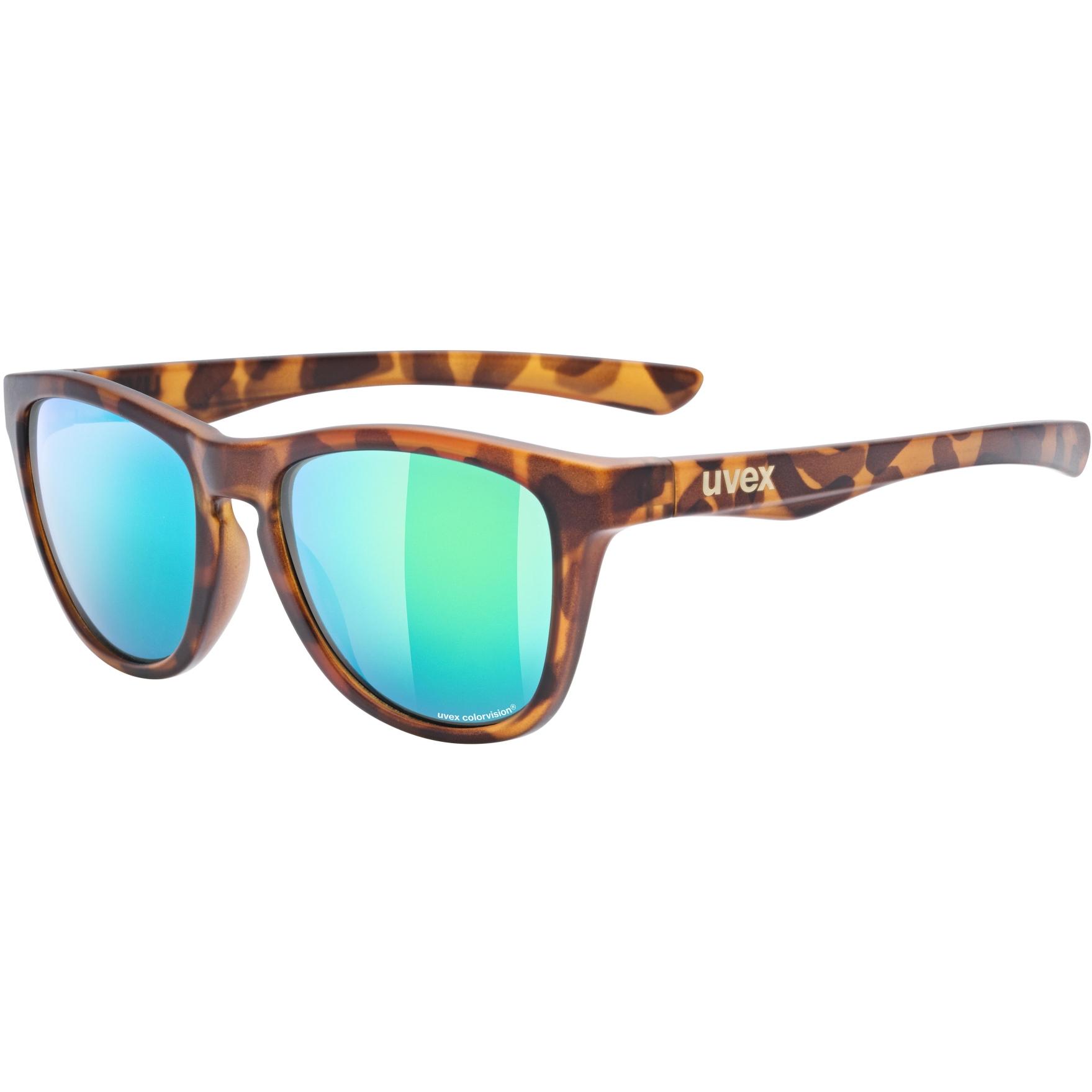Uvex lgl 48 CV Glasses - havanna mat/colorvision mirror green