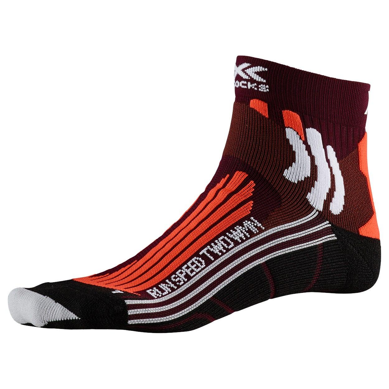 X-Socks Run Speed Two Socken für Damen - sunset orange/pearl grey