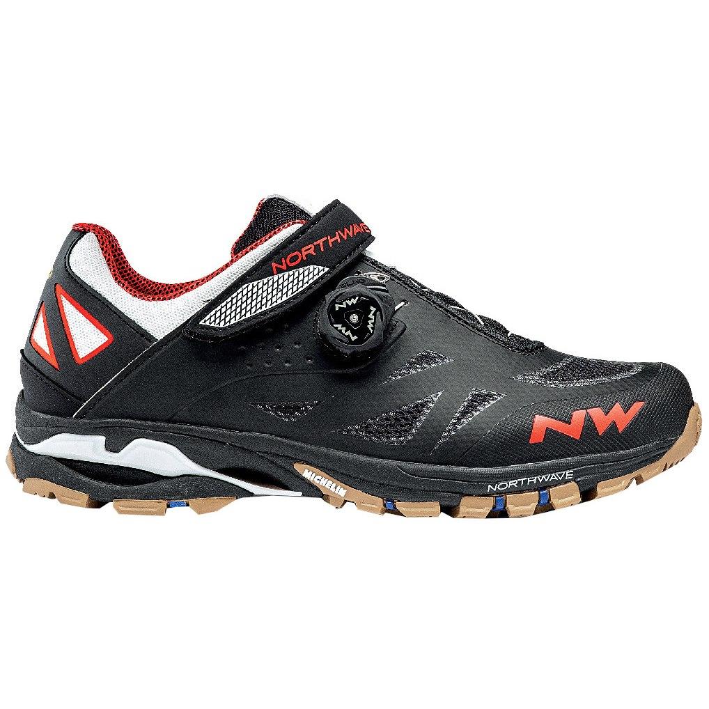 Northwave Spider Plus 2 All Terrain Shoe - black/off white/orange 64