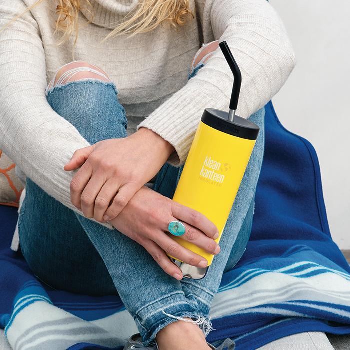 Bild von Klean Kanteen Straw Lid Set Trinkhalm Verschluss Set für TKWide Flaschen - schwarz