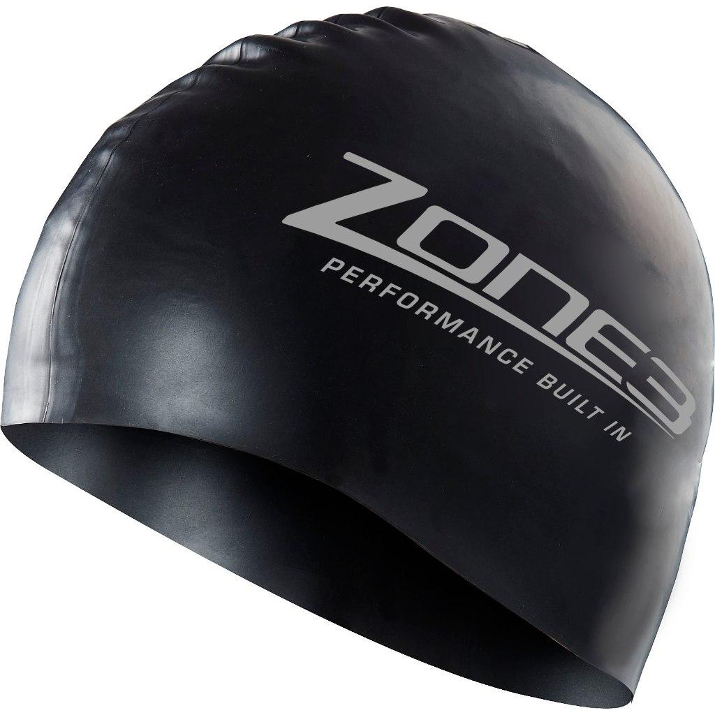 Produktbild von Zone3 Silikon Badekappe - schwarz