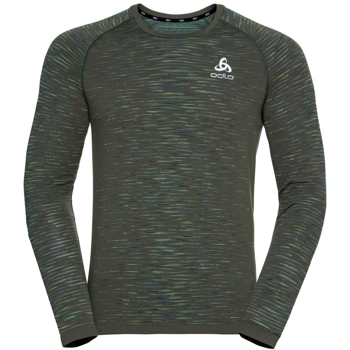 Produktbild von Odlo Herren BLACKCOMB CERAMICOOL Langarmshirt - climbing ivy - space dye
