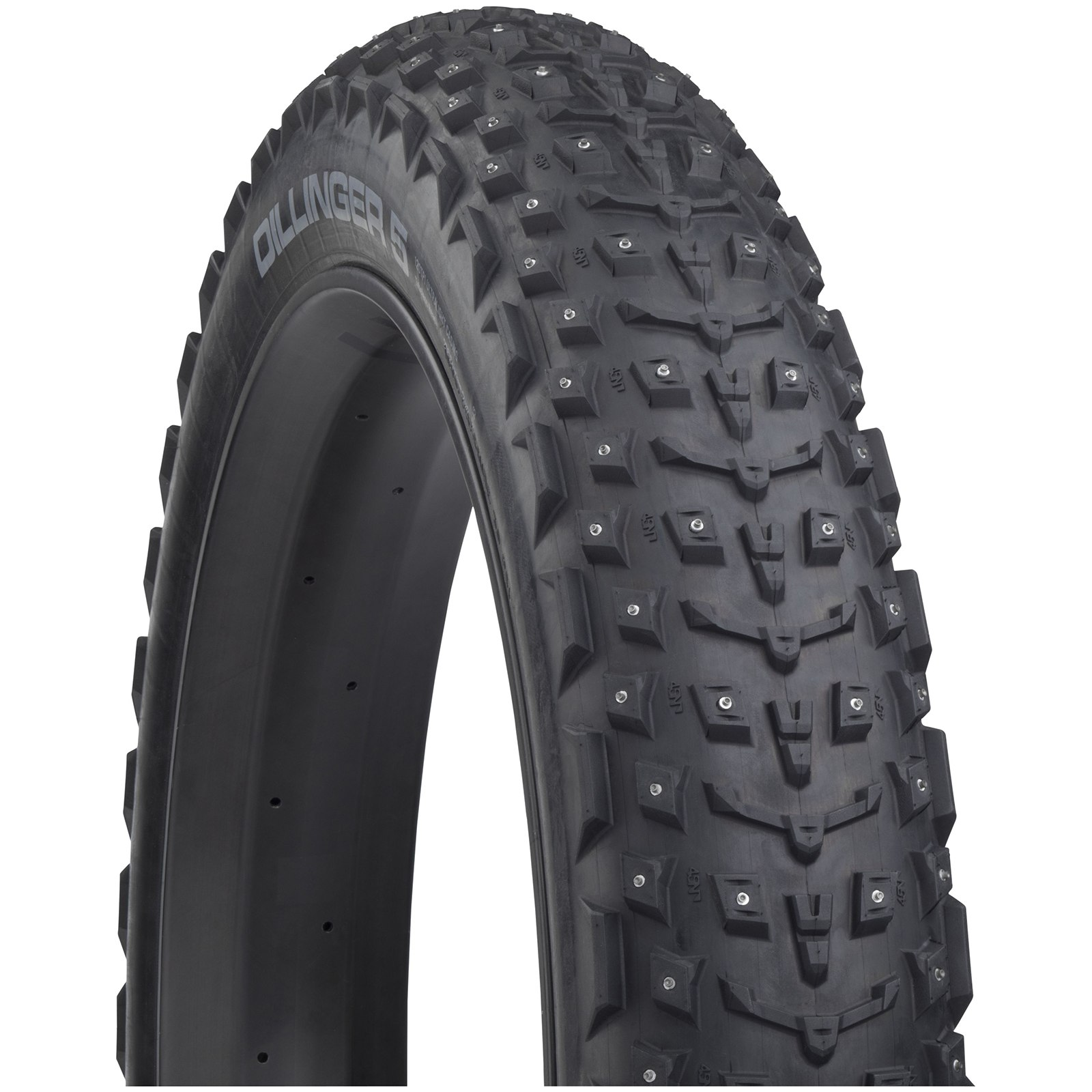 45NRTH Dillinger 5 Fatbike Folding Tire with 258 Studs - Tubeless Ready - 26x4.6 Inches - 60TPI
