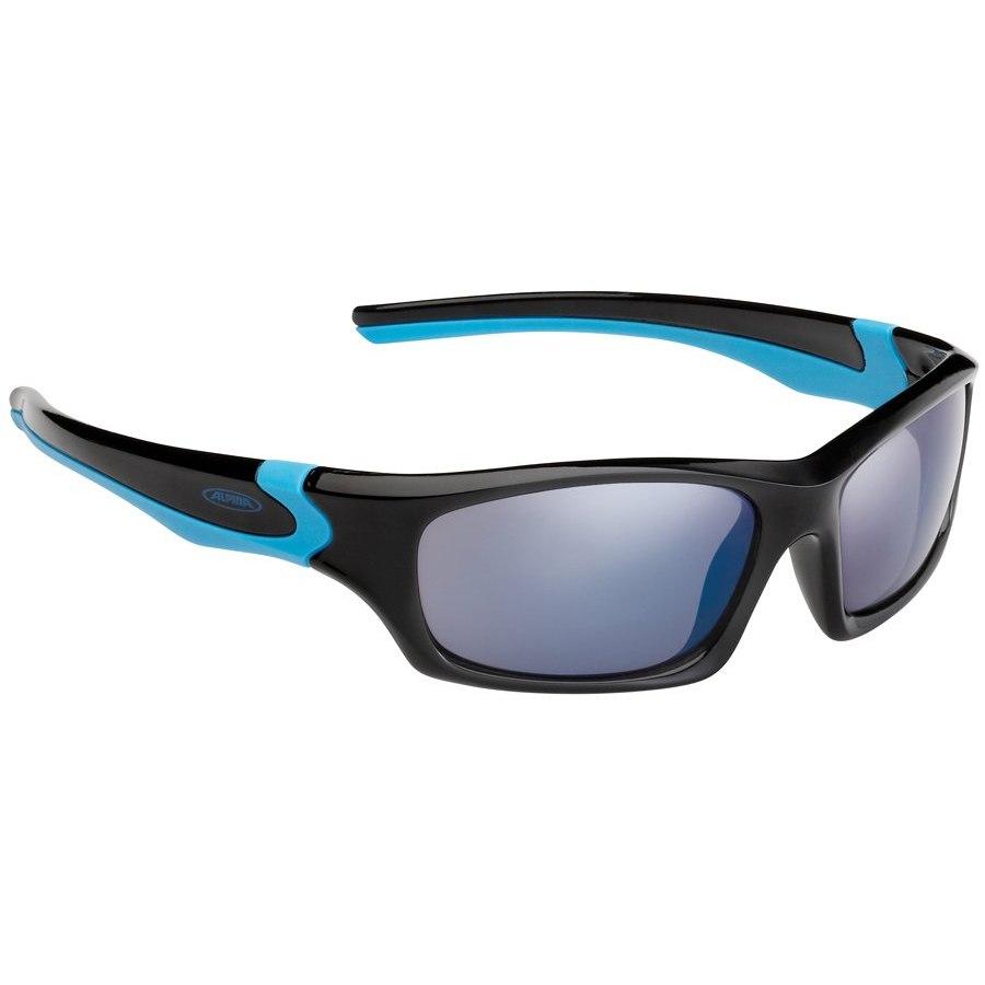 Alpina Flexxy Teen - black-cyan / CeramiC blue mirror - Kids Glasses