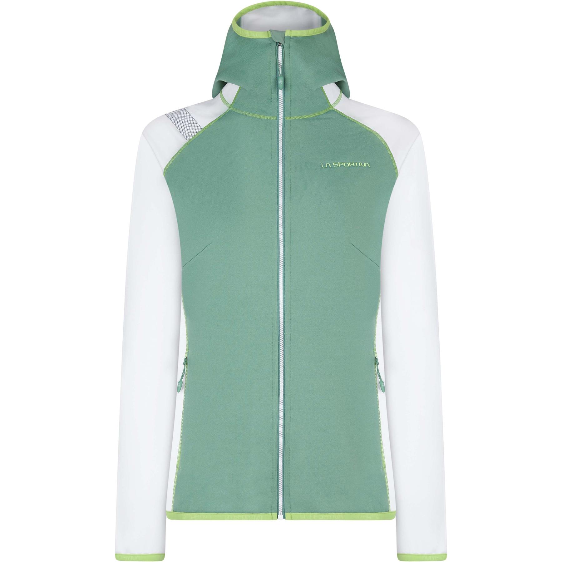 La Sportiva Alaris Hoody Jacket Women - Grass Green/White