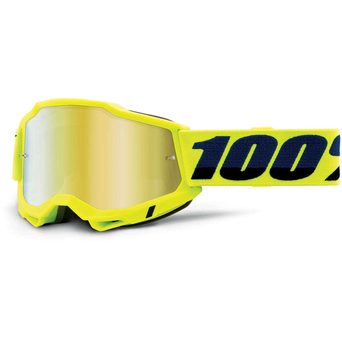 100% Accuri 2 Goggle Mirror Lens Gafas - Fluo Yellow