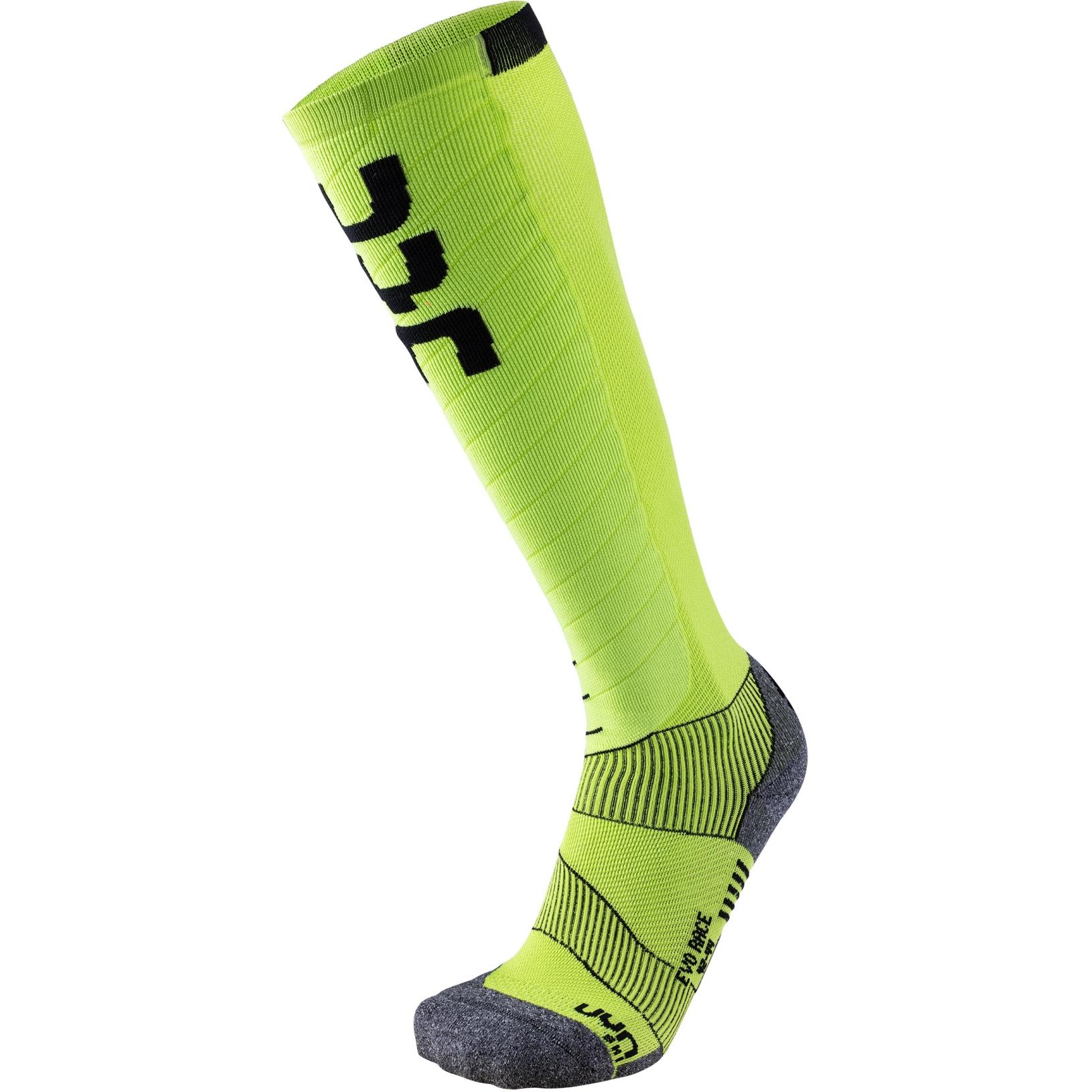 Image of UYN Evo Race Men's Ski Socks - Green Lime/Black