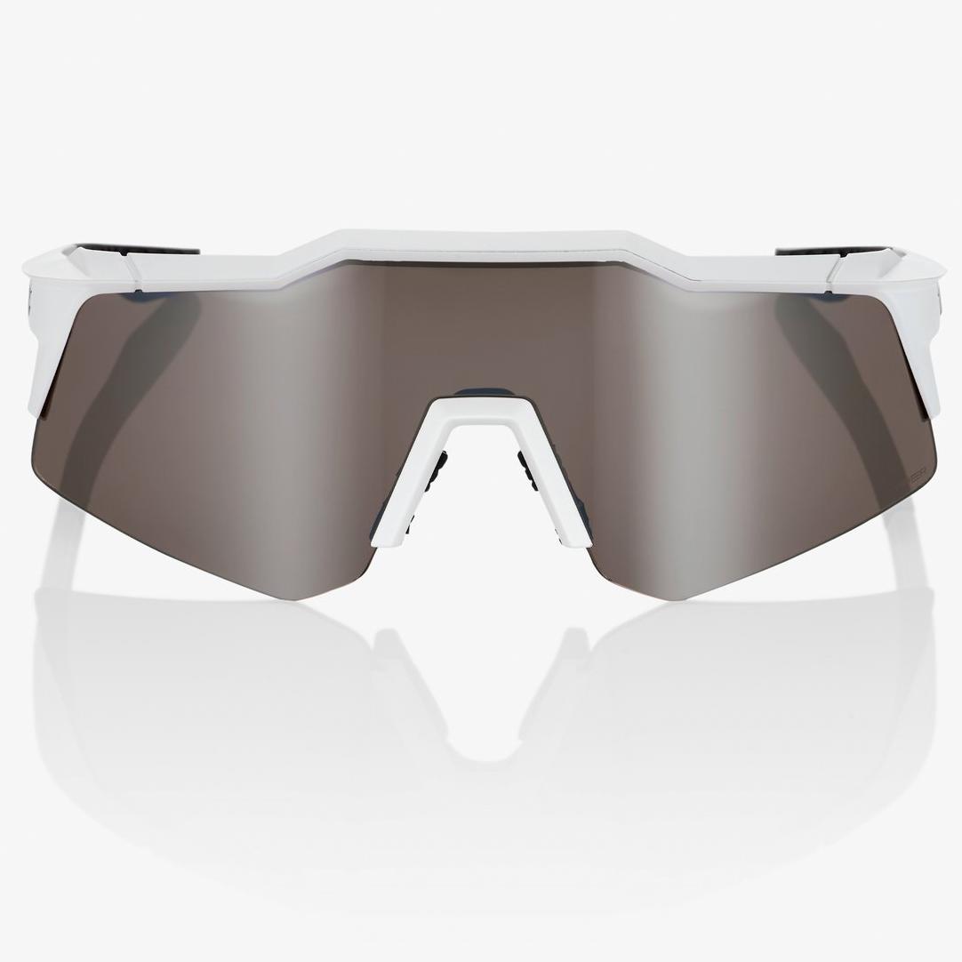 Imagen de 100% Speedcraft - XS - HiPER Gafas - Matte White HiPER Silver Mirror + Clear