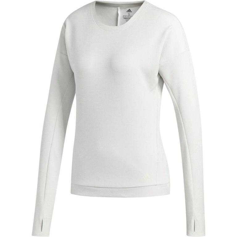 adidas Women's Supernova Run Cru Sweatshirt - white/raw white DQ1918