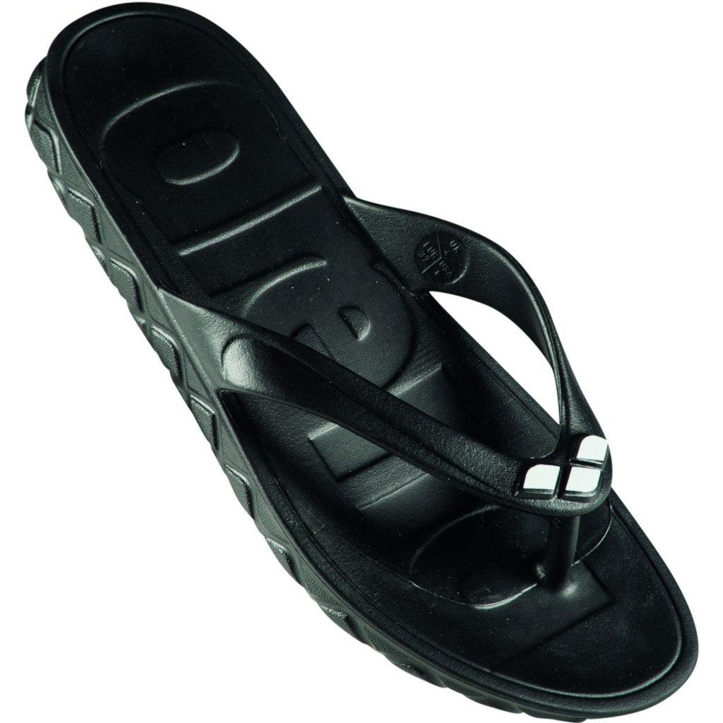 Image of arena Watergrip Thong Men's Sandals - black-white