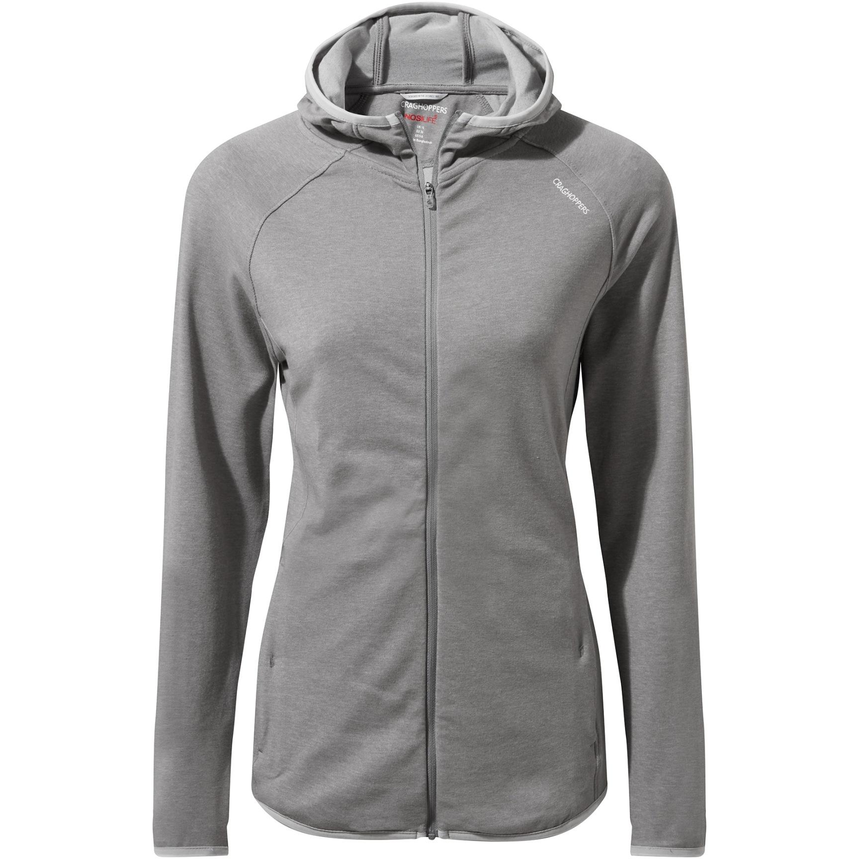 Craghoppers NosiLife Nilo Women's Hooded Jacket - soft grey marl