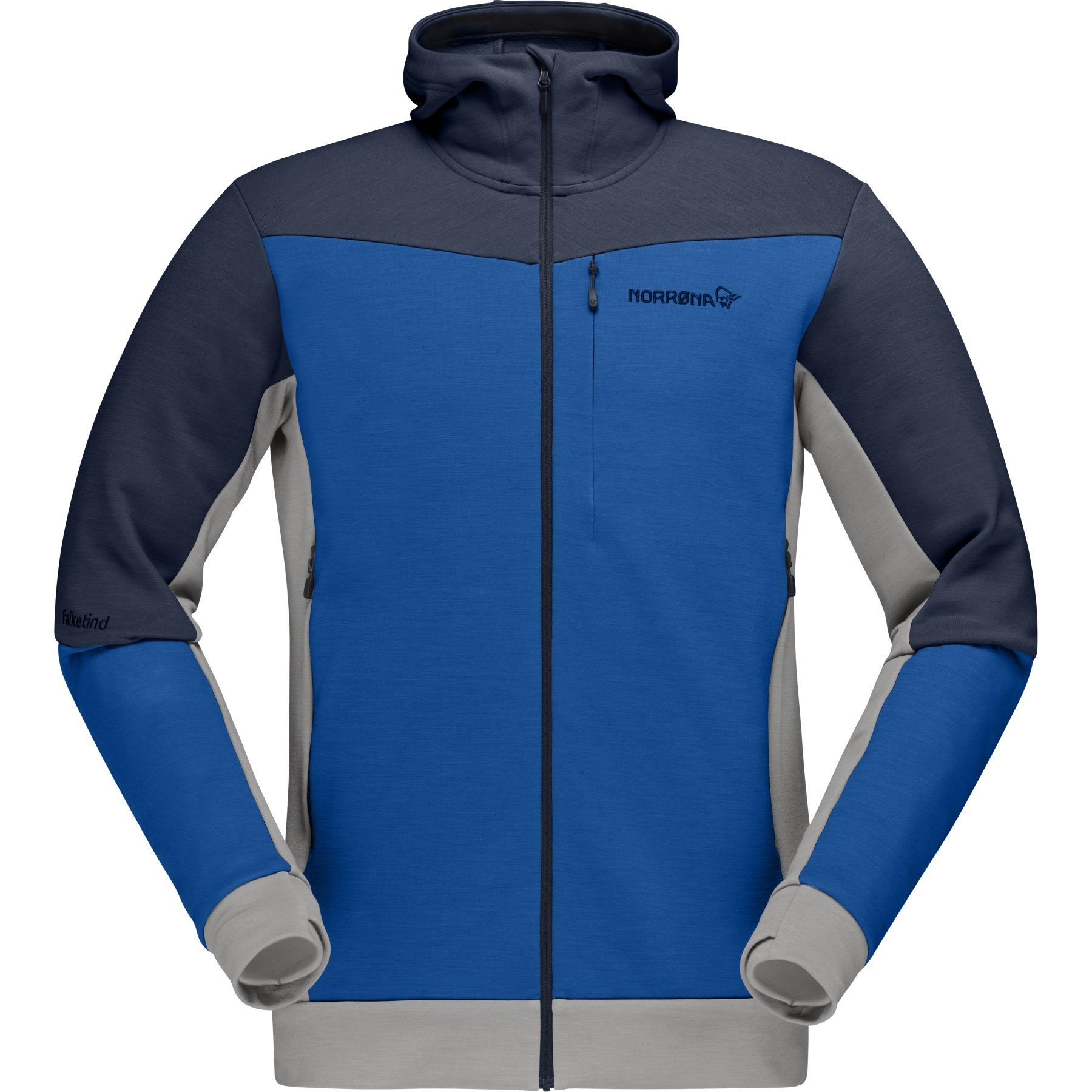 Norrona falketind warmwool2 stretch Zip Hood Chaqueta para Hombre - Olympian Blue/Indigo Night