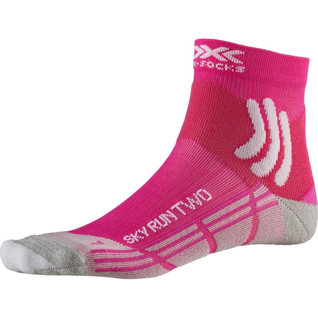 X-Socks Sky Run Two Laufsocken für Damen - flamingo pink/pearl grey