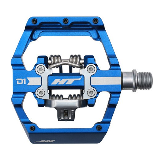 Produktbild von HT D1 DUO Klickpedal / Flatpedal - königsblau