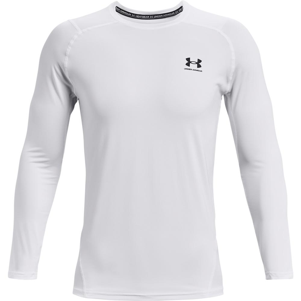 Foto de Under Armour HeatGear Armour Fitted Camiseta manga larga para hombre - White/Black