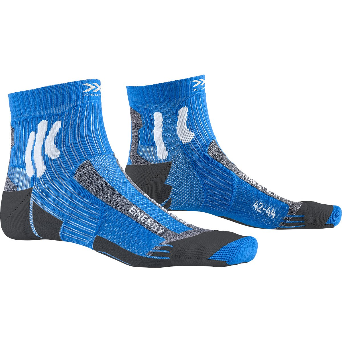 X-Socks Marathon Energy Laufsocken - twyce blue/anthracite