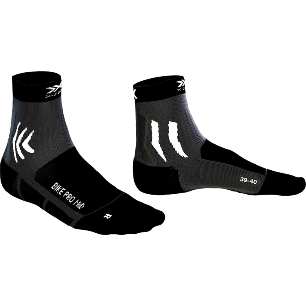 X-Socks Bike Pro Damen Socken - opal black/arctic white