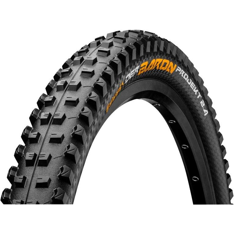 Continental Der Baron Projekt ProTection Apex MTB Folding Tire - 26 x 2.4 Inch - black