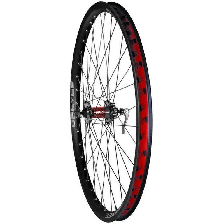 DMR Comp 26 Inch MTB Front Wheel - 6-Bolt - QR - black/black