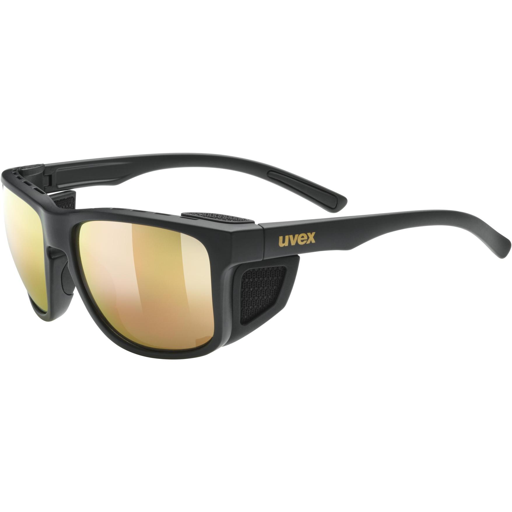 Uvex sportstyle 312 Glasses - black mat gold/mirror gold