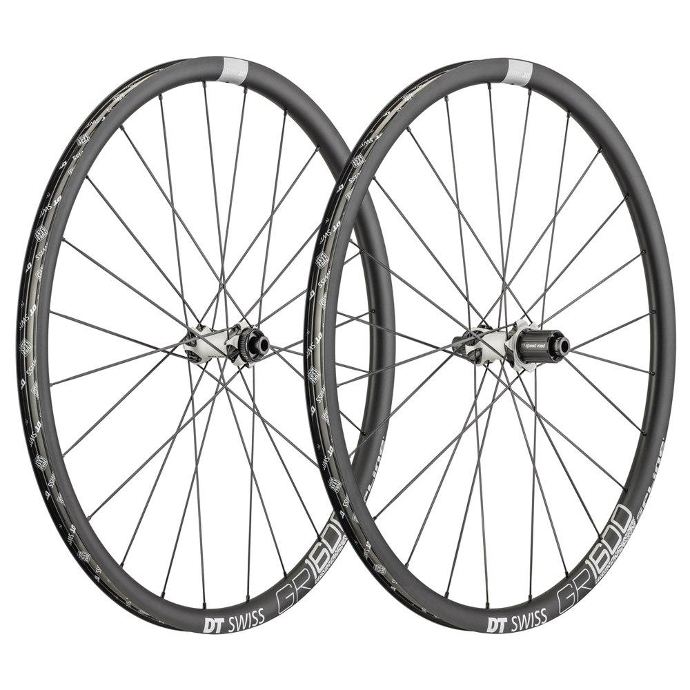 DT Swiss GR 1600 Spline 25 - Wheelset - Clincher - Centerlock / 6-Bolt - FW: 12/15x100mm/QR   RW: 12x142mm/QR