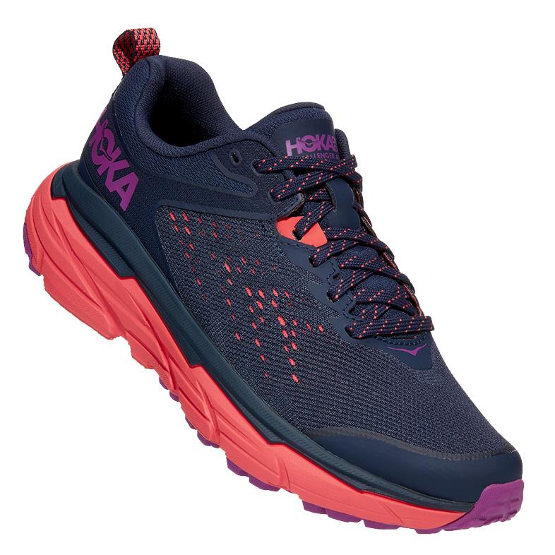 Hoka One One Challenger ATR 6 Women's Running Shoes - black iris / hot coral